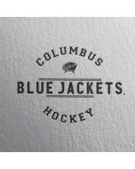 Columbus Blue Jackets Black Text Dell XPS Skin