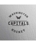 Washington Capitals Black Text Dell XPS Skin