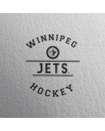 Winnipeg Jets Black Text HP Envy Skin