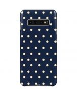 Blue and Cream Polka Dots Galaxy S10 Plus Lite Case
