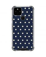 Blue and Cream Polka Dots Google Pixel 5 Clear Case