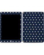 Blue and Cream Polka Dots Apple iPad Skin