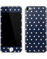 Blue and Cream Polka Dots Apple iPod Skin