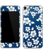 Blue and White Apple iPod Skin