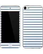 Blue and White Stripes Apple iPod Skin