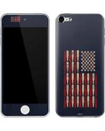 Blue Bullet American Flag Apple iPod Skin