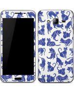 Blue Cats Galaxy J3 Skin
