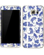 Blue Cats Galaxy S6 edge+ Skin