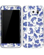 Blue Cats Galaxy S6 Edge Skin