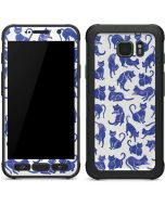 Blue Cats Galaxy S7 Active Skin