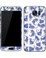 Blue Cats Galaxy S7 Skin
