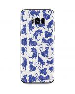 Blue Cats Galaxy S8 Plus Skin