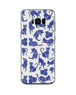 Blue Cats Galaxy S8 Skin