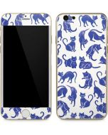Blue Cats iPhone 6/6s Skin