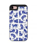 Blue Cats iPhone 7 Wallet Case