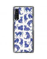 Blue Cats LG Velvet Clear Case