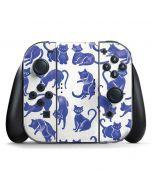 Blue Cats Nintendo Switch Joy Con Controller Skin