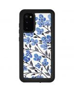 Blue Cherry Blossoms Galaxy S20 Waterproof Case