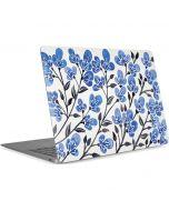 Blue Cherry Blossoms Apple MacBook Air Skin