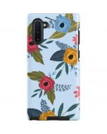 Blue Fall Flowers Galaxy Note 10 Pro Case