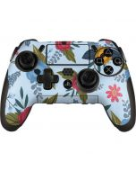 Blue Fall Flowers PlayStation Scuf Vantage 2 Controller Skin
