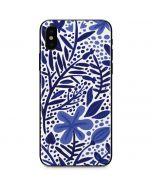 Blue Garden iPhone X Skin