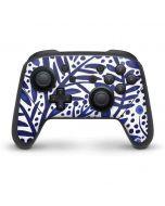 Blue Garden Nintendo Switch Pro Controller Skin