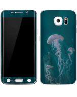 Blue Jellyfish Galaxy S6 Edge Skin