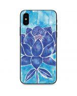 Blue Lotus iPhone X Skin
