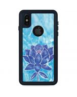Blue Lotus iPhone XS Waterproof Case
