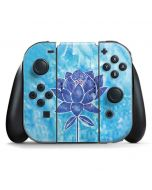 Blue Lotus Nintendo Switch Joy Con Controller Skin