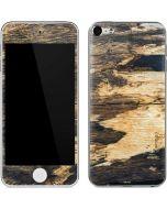 Blue Resin Wood Apple iPod Skin