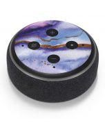 Blue Violet Watercolor Geode Amazon Echo Dot Skin