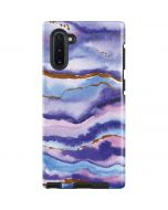 Blue Violet Watercolor Geode Galaxy Note 10 Pro Case