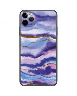 Blue Violet Watercolor Geode iPhone 11 Pro Max Skin