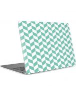 Blue White Chevron Apple MacBook Air Skin