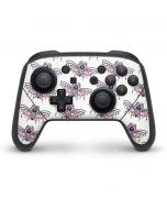 Blush Moth Nintendo Switch Pro Controller Skin