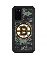 Boston Bruins Camo Galaxy S20 Waterproof Case