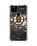 Boston Bruins Frozen Google Pixel 5 Clear Case