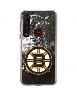 Boston Bruins Frozen Moto G8 Plus Clear Case