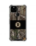 Boston Bruins Realtree Xtra Camo Google Pixel 5 Clear Case
