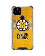 Boston Bruins Vintage Google Pixel 5 Clear Case
