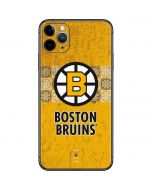Boston Bruins Vintage iPhone 11 Pro Max Skin
