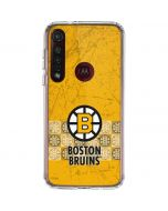 Boston Bruins Vintage Moto G8 Plus Clear Case