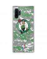 Boston Celtics Digi Camo Galaxy Note 10 Plus Clear Case