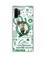 Boston Celtics Historic Blast Galaxy Note 10 Plus Clear Case