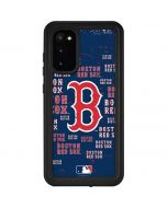 Boston Red Sox - Cap Logo Blast Galaxy S20 Waterproof Case