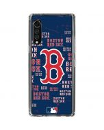 Boston Red Sox - Cap Logo Blast LG Velvet Clear Case