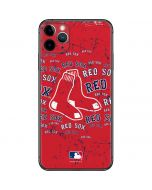 Boston Red Sox - Red Primary Logo Blast iPhone 11 Pro Max Skin