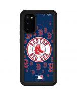 Boston Red Sox - Secondary Logo Blast Galaxy S20 Waterproof Case